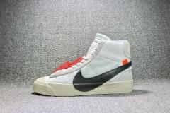 Authentic OFF-WHITE x NIKE BLAZER MID men shoes