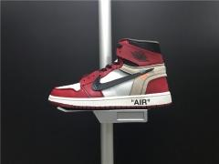 Super max OFF-WHITE x Air Jordan 1 men shoes