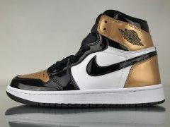 "Authentic Air Jordan 1 Retro High OG""Gold Toe"""