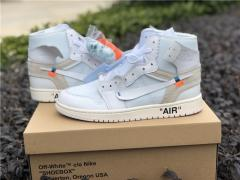 "Authentic OFF-WHITE x Air Jordan 1 ""White Grey"""