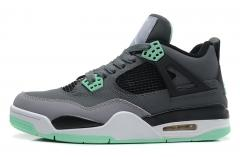 Authentic Air Jordan 4 Grey jade