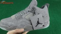 Authentic Air Jordan 4 retro gray