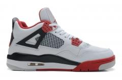 Authentic Air Jordan 4 retro red white