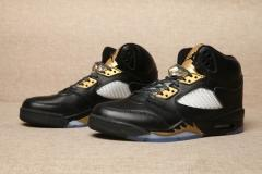 "Authentic Air Jordan 5 ""Black Gold"""