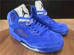 Authentic Air Jordan 5 all blue