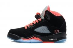 Authentic Air Jordan 5 Retro  black Pink