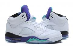 Authentic Air Jordan V Retro White purple grapes