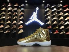 "Authentic Air Jordan 11 Low ""Gold"""
