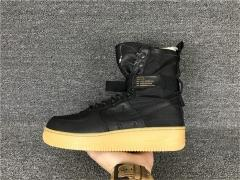 "Authentic Nike Special Field Air Force 1""Black/Gum Light Brown""Men shoes(best quality)"