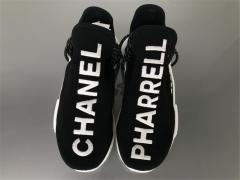 "Authentic _Chanel X Pharrell Williams x Adidas NMD Human Race ""Black"" Real Boost Men and Women"