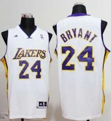 Los Angeles Lakers #24 Kobe Bryant Nike White Stitched Jersey