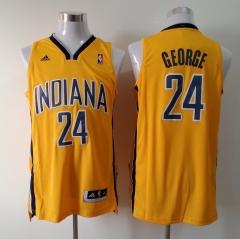Indian Pacers #24 George Addidas Yellow Stitched Jersey