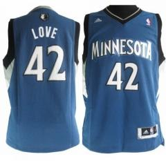 Minnesota Timberwolves #42 Love Nike Dark Blue Stitched Jersey