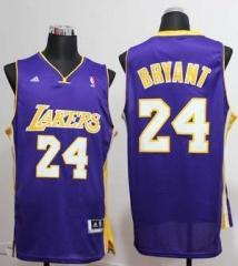 Los Angeles Lakers #24 Kobe Bryant Nike Purple Stitched Jersey