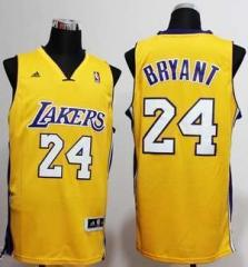 Los Angeles Lakers #24 Kobe Bryant Nike Yellow Stitched Jersey