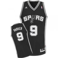 San Antonio Spurs #9 TonyParker Nike Black Stitched Jersey