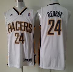 Indian Pacers #24 George Addidas White Stitched Jersey