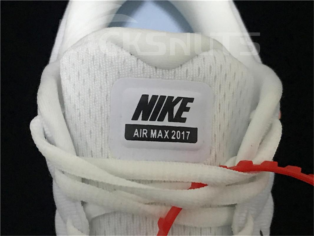 Super max perfect Off White x Nike Air Max 2017 Men shoes (98.5%Authenic)