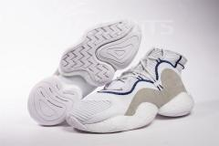 Super max perfect Adidas Originals Crazy BYW Boost White Grey(98.5%Authenic)