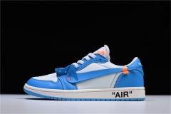 Super max perfect Off White x Air Jordan 1 LOW UNC (98%Authenic)