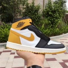 "Authentic Air Jordan 1 OG Hi Retro ""Yellow Ochre"""