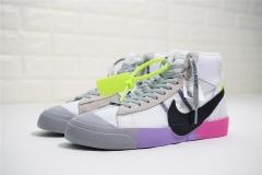 "Super max perfect Off-White x Nike Blazer Mid""Queen""men and women shoes"