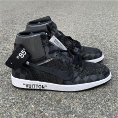 Authentic OFF-WHITE x LV x Air Jordan 1
