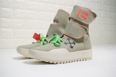 Authentic Off White Moto Wrap Hi-Top Sneakers