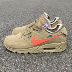 "Authenitc OFF-WHITE x Nike Air Max 90 ""Desert Ore"""