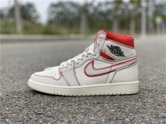 "Authentic Air Jordan 1 Retro High OG ""Sail/Red"""