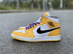 "Authentic Air Jordan 1 Mid ""Lakers"""