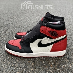 "Authentic Air Jordan 1 ""Bred Toe"""