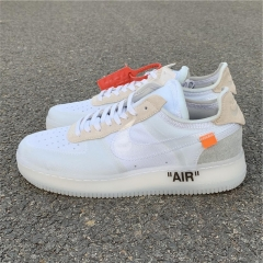 Authentic OFF-White x Nike Air Force 1 low men shoes