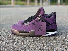 Authentic Travis Scott x Air Jordan 4 Purple Suede