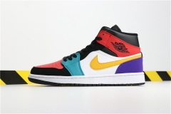 "Authentic Air Jordan 1 Mid ""Multicolor"""