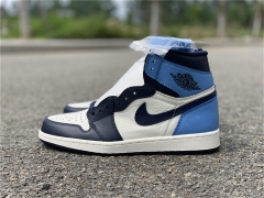"Authentic Air Jordan 1 ""Obsidian"""