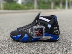 Authentic Air Jordan 14 x Supreme Black blue