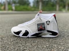 Authentic Air Jordan 14 x Supreme white