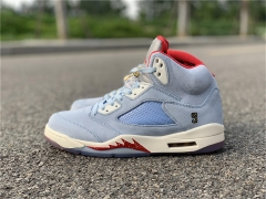 "Authentic Trophy Room x Air Jordan 5 ""Ice Blue"""