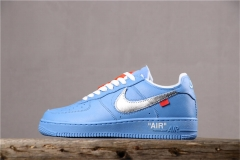 "Super max perfect OFF WHITE x Nike  Air Force 1 ""University Blue"""