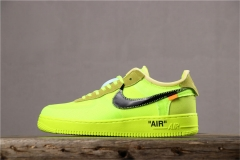 "Super max perfect OFF WHITE x Nike  Air Force 1 ""Volt"""