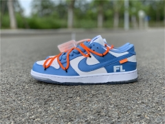 Authentic OFF-WHITE x Futura x Nike SB Dunk Low