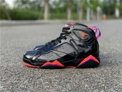 "Authentic Air Jordan 7 WMNS""Black Patent Leather"""