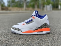 "Authentic Air Jordan 3 ""Knicks"""