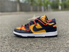 "Authentic Off-White x Nike Dunk Low ""University Gold"""