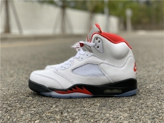 "Authentic Air Jordan 5 ""Fire Red"""
