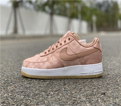 "Authentic CLOT x Nike Air Force 1 Low ""Rose Gold"""