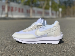 "Authentic sacai x Nike LDV Waffle ""White Nylon"""