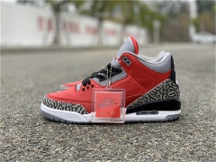 "Authentic Air Jordan 3 SE ""Red Cement"""