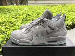 "Authentic KAWS x Air Jordan 4 ""Cool Grey"""